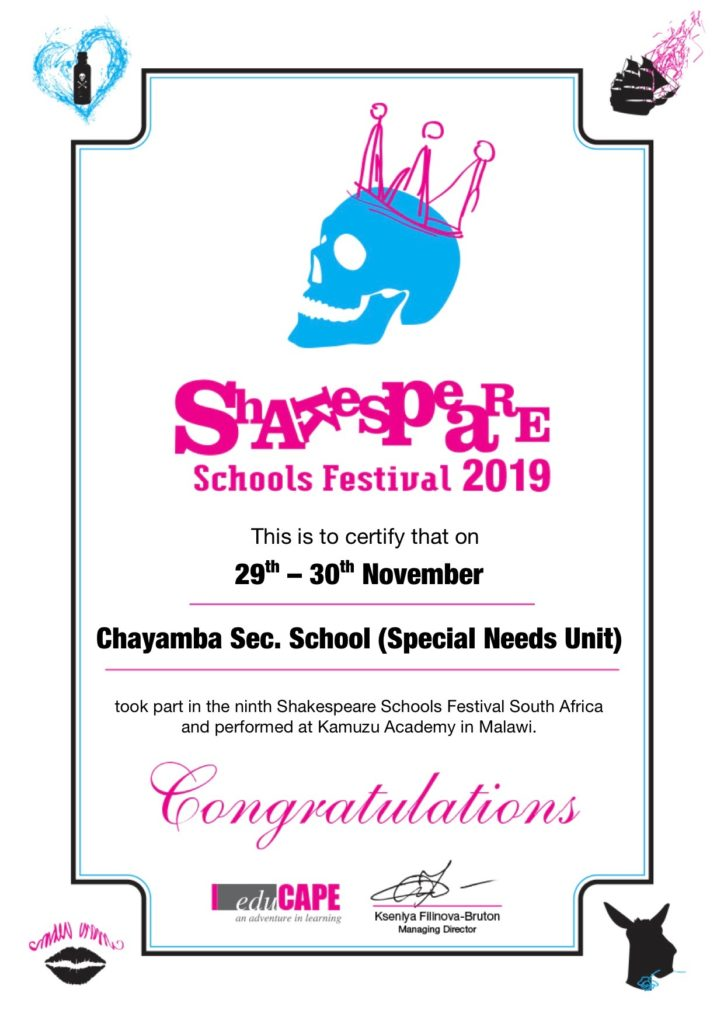 ssf_mw_iii_certificate_chayamba_secondary_school_special_needs_unit